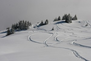 Skön skidresa i Schweiz